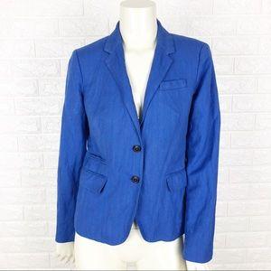 J Crew Womens Blazer Jacket Sz 6 Royal Blue Lined